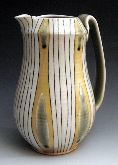 Ornamented pitcher