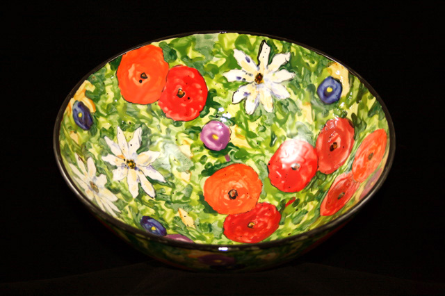 Tom Hicks - large floral bowl